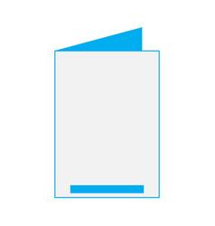 isolated empty celebration card vector image