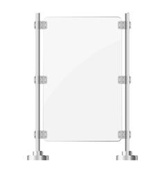 Glass screen with metal racks eps10 vector image