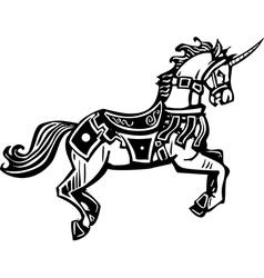 Unicorn in livery vector