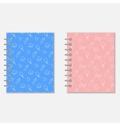 Mothers diary covers vector