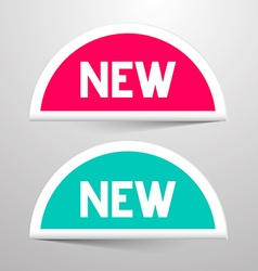 New paper labels set vector