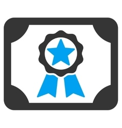 Award diploma icon vector
