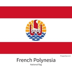 National flag of french polynesia with correct vector