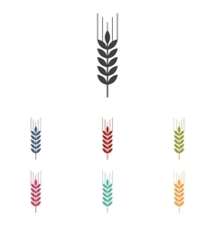 Wheat icons set vector