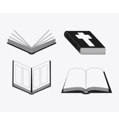 Bible design book icon flat vector