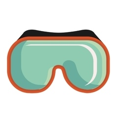 Colorful snorkel mask graphic vector