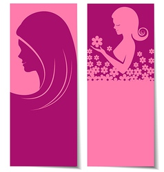 Abstract beautiful women card vector