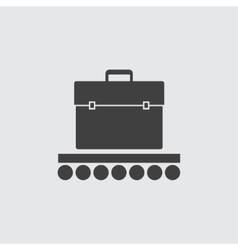 Baggage conveyor icon vector