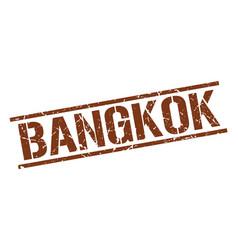 Bangkok brown square stamp vector