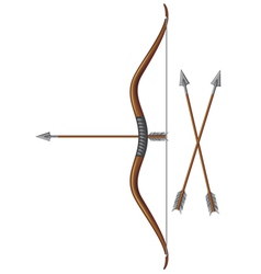Bow and arrow vector