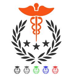 Caduceus logo flat icon vector