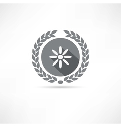 Camomile icon vector