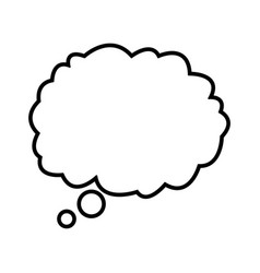 cloud dream think talking design outline vector image