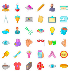 computer drawing icons set cartoon style vector image