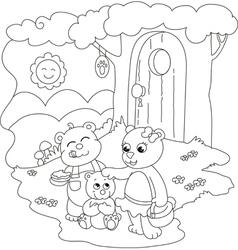 Cute coloring bears vector image