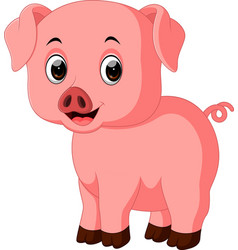 Snout Vector Images (over 2,600) Cute Cartoon Pigs With Big Eyes