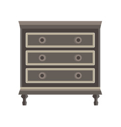 Drawer dresser room wardrobe cartoon isolated vector