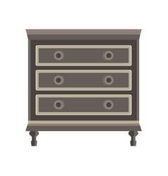 drawer dresser room wardrobe cartoon isolated vector image
