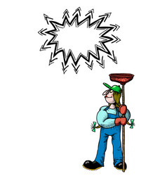 female plumber-100 vector image vector image