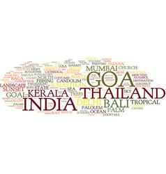 Goa word cloud concept vector