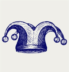 Jester hat vector image vector image