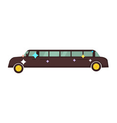 long disco limousine that shines isolated cartoon vector image