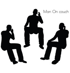 Man on couch pose vector