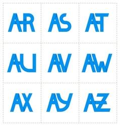 Modern minimalis initial logo 3 vector