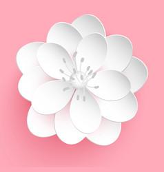 paper cut sakura flower floral vector image