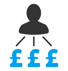 Person pound expenses flat icon symbol vector