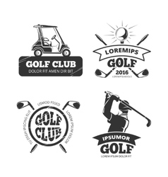 Retro golf labels emblems badges and vector