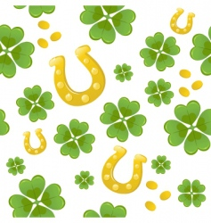 seamless St Patrick's day background vector image vector image
