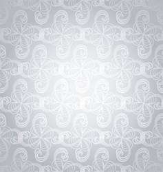 silver swirl overlap vector image vector image