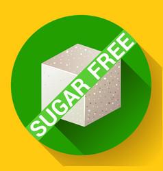 Sugar free icon flat vector