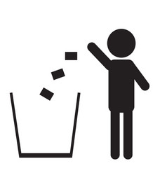 trash icon isolated on a white background vector image vector image