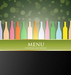 wine menu cover vector image