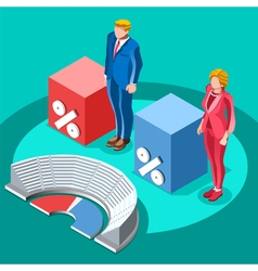 Election infographic congress meeting isometric vector