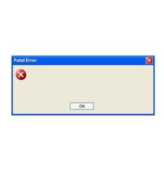 Error pop up window vector