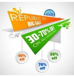Republic day of india sale banner with indian flag vector