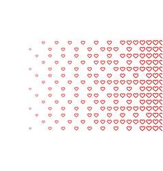 Halftone pattern background heart shapes vintage vector