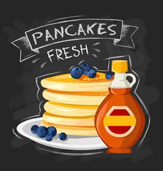 Premium quality restaurant breakfasts vintage vector