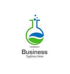 Lab logo with leaf symbol vector