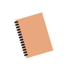 Planner notebook organizer diary paper note page vector