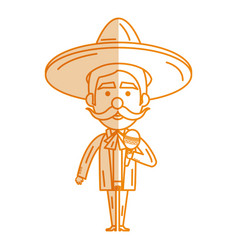 Mexican mariachi with maracas avatar character vector