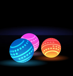 Digital light balls vector