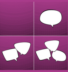Set of speech bubbles on pink background vector