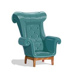 Big leather armchair vector