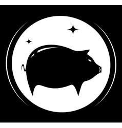 pig silhouette - meat food symbol vector image