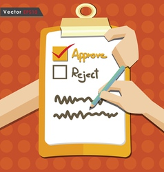 Evaluation approve quality check vector
