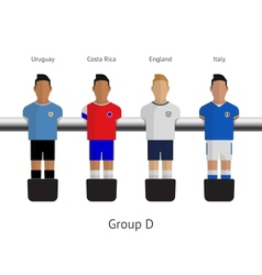Table football soccer players group d vector
